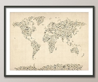 best-gifts-for-music-lovers-music-note-map