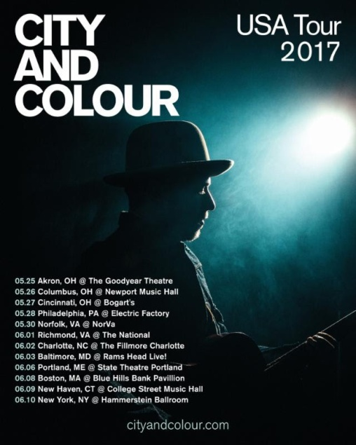 city-and-colour-tour-dates-2017